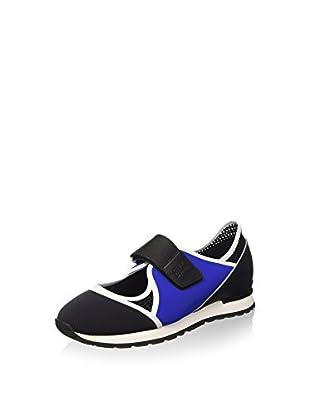 Bikkembergs Damen Kate 664 L.Shoe Cut Out W Lycra/Leather Durchgängies Plateau Pumps, Schwarz (Blk/