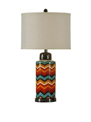 StyleCraft Braunstein Chromatic Ceramic 1-Light Table Lamp, Multi