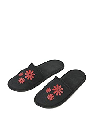 H.Due.O Pantofole Hippy Flowers Rosso