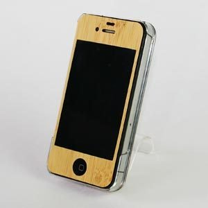 REAL WOODEN CASE COVER 「WoodGrain-木目-」-竹- for iPhone4/iPhone4S