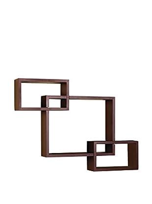 Melannco Interlocking Shelves, Red