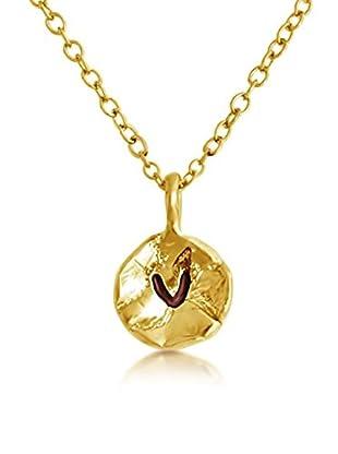 Belcho Hammered V Initial Pendant Necklace