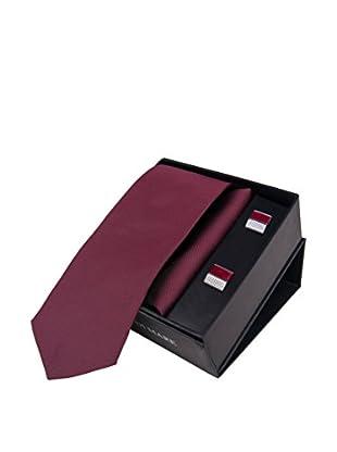 GIORGIO DI MARE Set: Einstecktuch + Krawatte + Manschettenknopf