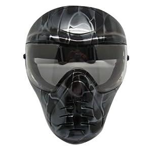 サバゲー・バイク・スノボーに フェイスガードマスク 顔をガードする新しいプロテクター◇MI-BKM【スモークブラック】