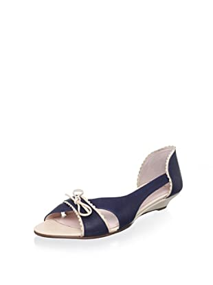 Red Valentino Women's Demi-Wedge Sandal (Blue Denim)