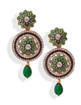 Green Stone Dangler Earrings