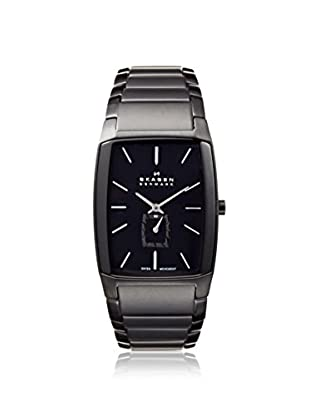 Skagen Men's 984XLBXB Black Label Rectangle, Stainless Steel Watch