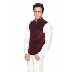Platinum Studio Maroon Men Nehru Jacket NJ 713 MN
