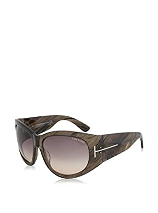 Tom Ford Gafas de Sol Ft404 50B (61 mm) Oliva / Gris / Marrón