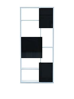 13 Casa Bücherregal Matrix 7 weiß/schwarz
