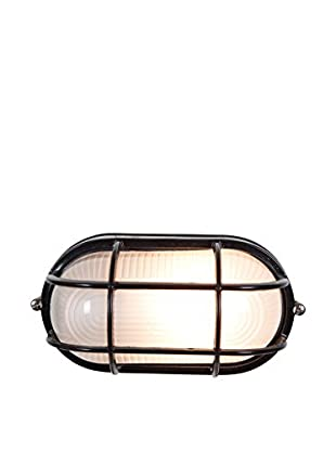 Access Lighting Nauticus 1-Light Bulkhead With Frosted Glass Shade, Black
