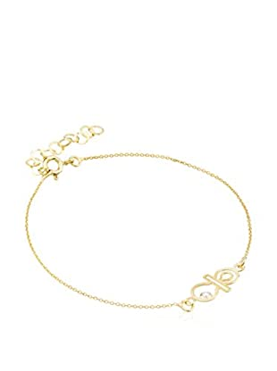 Cordoba Jewels Pulsera Chupe plata de ley 925 milésimas bañada en oro