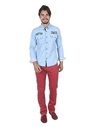 Giorgio Di Mare Camisa Hombre Worked Muzio (Azul)