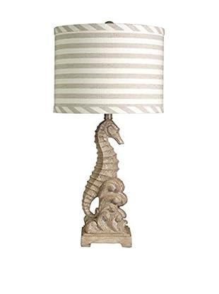 StyleCraft Sandy Seahorse 1-Light Table Lamp, Sand