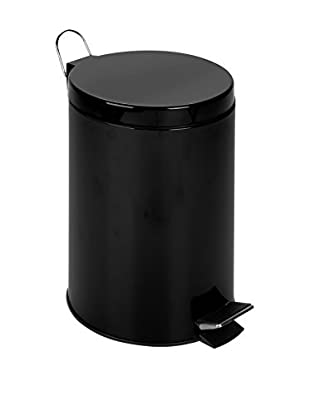 Honey-Can-Do 12L Step Trash Can, Matte, Black