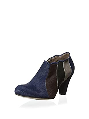 ALL BLACK Women's Pony Scalloped Bootie (Navy)