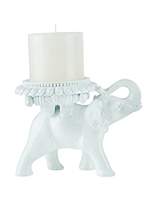 Torre & Tagus White Tambo Elephant Pillar Candle Holder