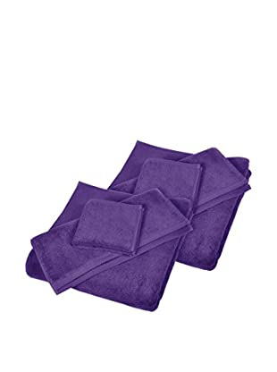Home Source 6-Piece Shower Set, Violet