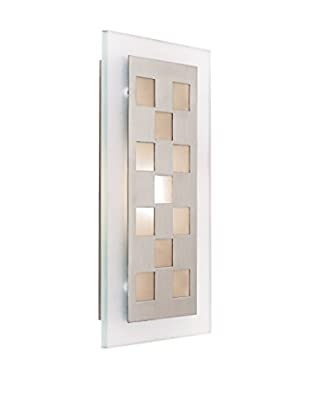 Access Lighting Aquarius LED 1-Light Wall Sconce, Brushed Steel/Frosted