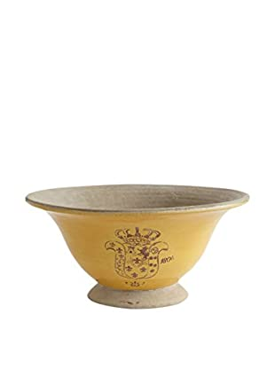 Napa Home & Garden Nouveax Footed Low Bowl, Yellow