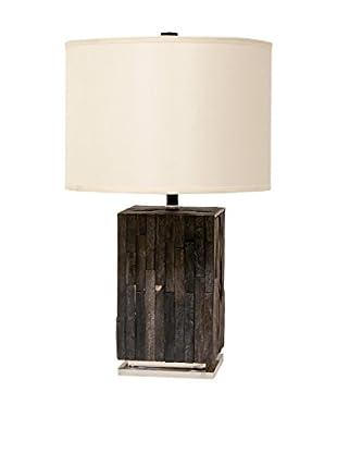 Palecek Petrified Wood Rough Tile Lamp, Multi