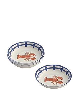 Woodard & Charles Set of 4 Lobster Shell Bowls