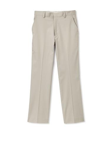 Ike Behar Boy's 8-20 Flat-Front Straight Leg Pants (Khaki)