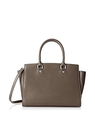Merci Marie Women's Dana Trapazoid Shape Two-Handle Tote, Taupe