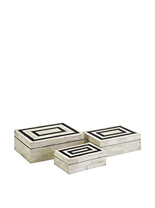 Set of 3 Bella Bone Inlay Boxes