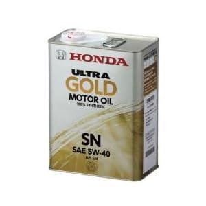 【クリックでお店のこの商品のページへ】Amazon.co.jp | ホンダ(HONDA) 純正オイル ウルトラ GOLD 内容量:20L 規格:SN 粘度:5W-40 | 車&バイク