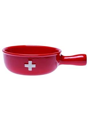 Nouvel Käse-Fondue-Caquelon CH-Kreuz Spezial rot