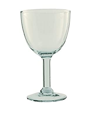 Be Home Set of 4 Large 7-Oz. Recycled Footed Glasses, Clear