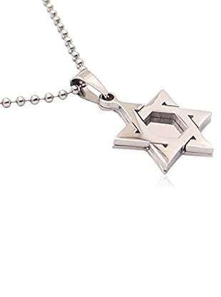 Blackjack Jewelry Halskette Star Of David Pendant With 24