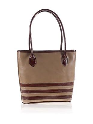 Valentina Italy Schultertasche Shopper Grigio Topo/Marrone one size