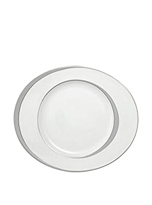 Guy DeGrenne Oval Boreal Ellipse Dinner Plate, White