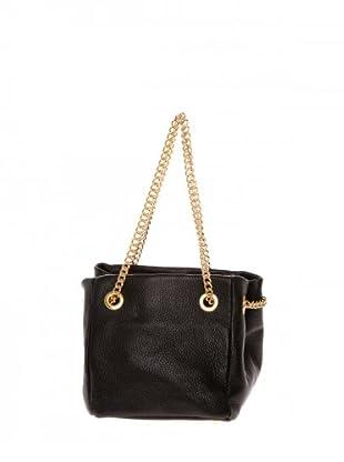 Elysa Satchel-Bag mit Gliederkette (Schwarz)