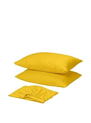 Homemania Betttuch und Kissenbezug gelb 210 x 250 cm