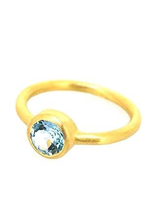 Melin Paris Anillo Topacio Azul (Dorado)