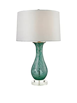Artistic Lighting Table Lamp, Aqua Swirl