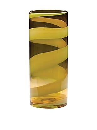 Dynasty Gallery Glass Citrus Cylinder Vase, Citrus