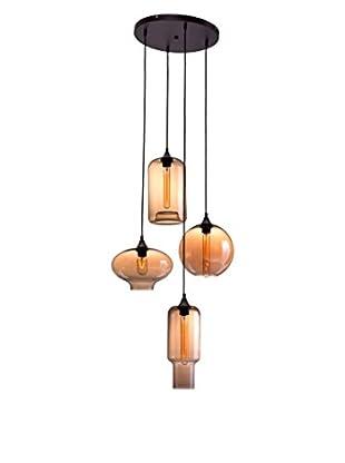 Zuo Lambie Ceiling Lamp, Rust/Amber