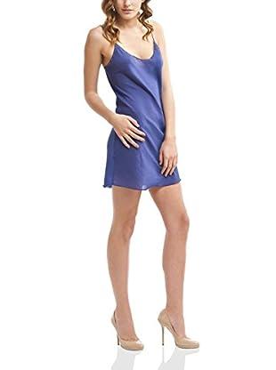 Mine de Rien Vestido Seda Easy Azul L
