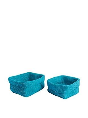 Aufbewahrungskorb 2er Set blau