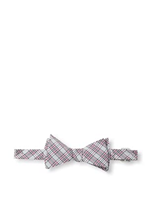 Ivy Prepster Men's Traditions Check Plaid Bow Tie, White