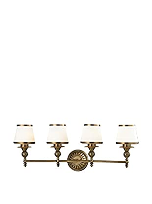 Artistic Lighting Smithfield 4-Light LED Bath Bar, Aged Brass