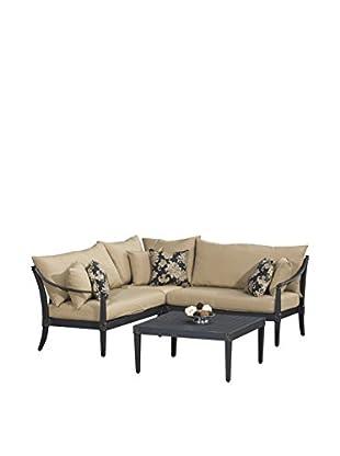 RST Brands Astoria 4-Piece Corner Sectional & Table Set, Beige