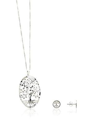 Córdoba Jewels Set bestehend aus Kette, Anhänger und Ohrringen Plata de ley 925