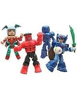 Diamond Select Toys Marvel Minimates 2011 SDCC San Diego Comic Con Exclusive 4Pack Marvel Vs. Capcom 3 Hulk Iron Man Zero Morrigan