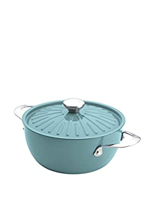 Rachael Ray 4.5-Qt. Cucina Oven-To-Table Hard Enamel Nonstick Covered Round Casserole, Agave Blue