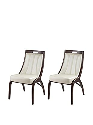 International Design Danube Set of 2 Dining Chairs, Dutch White
